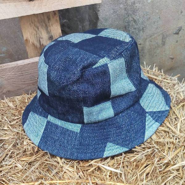 cool denim bucket hat idea