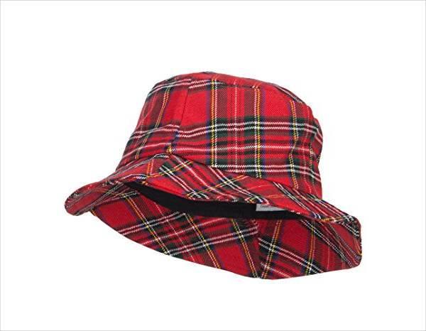 womens plaid bucket hat design