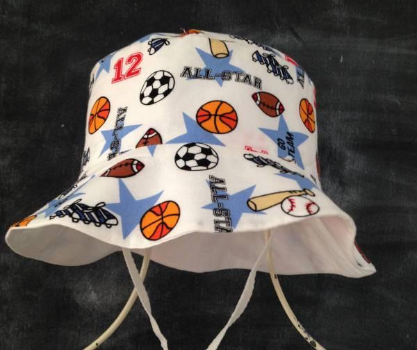 sports sun bucket hat idea