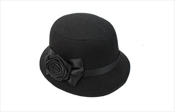 black vintage bucket hat design