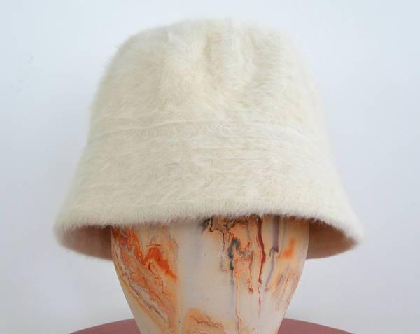 vintage fur bucket hat