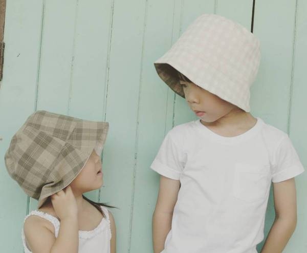 pretty kids bucket hat design