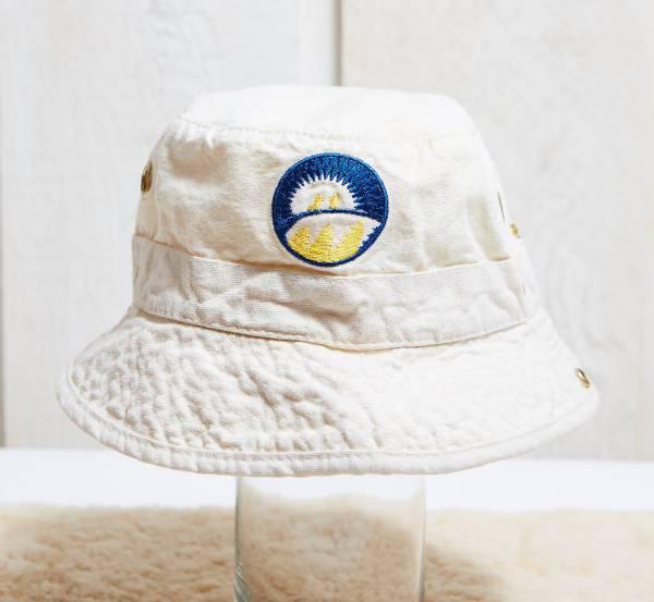 white cotton bucket hat