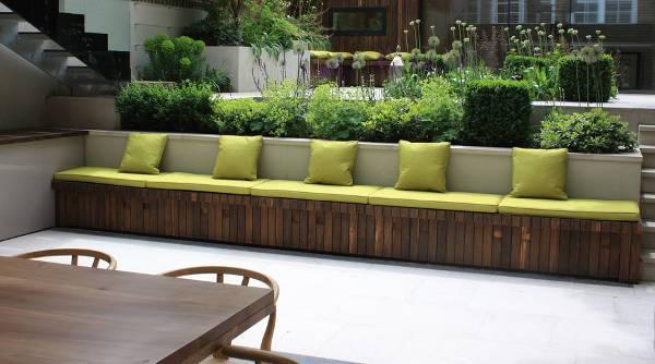 simple outdoor storage bench