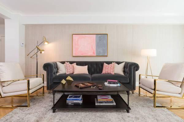 statement velvet sofa