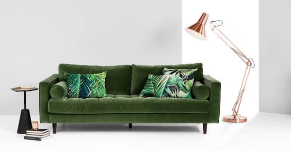 statement velvet sofa1