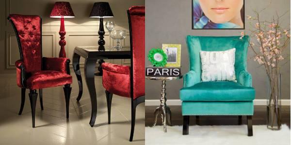 velvet upholstered chairs