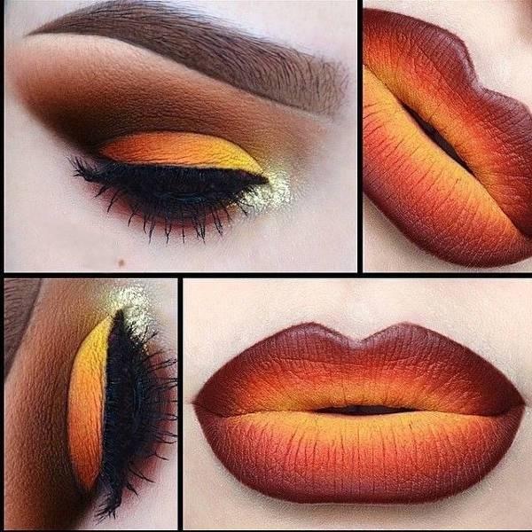 Fiery Ombré Lips