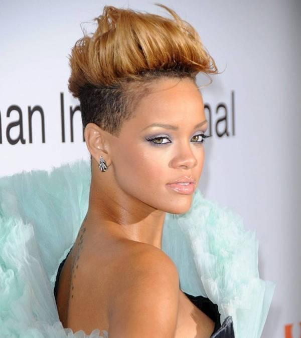 Rihanna Mohawk Fade Hairstyle