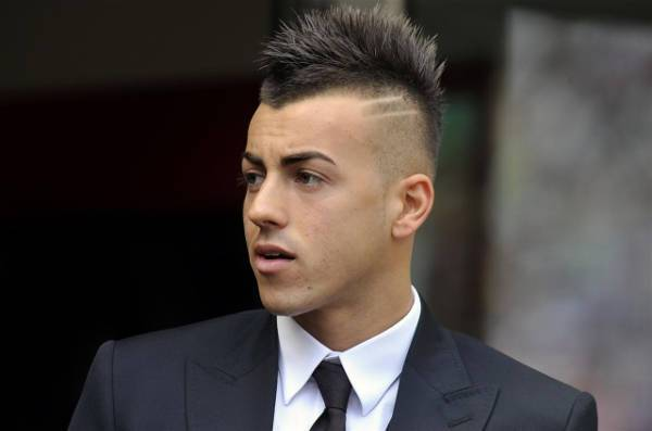 Stephan El Shaarawy Low Fade Mohawk Hair