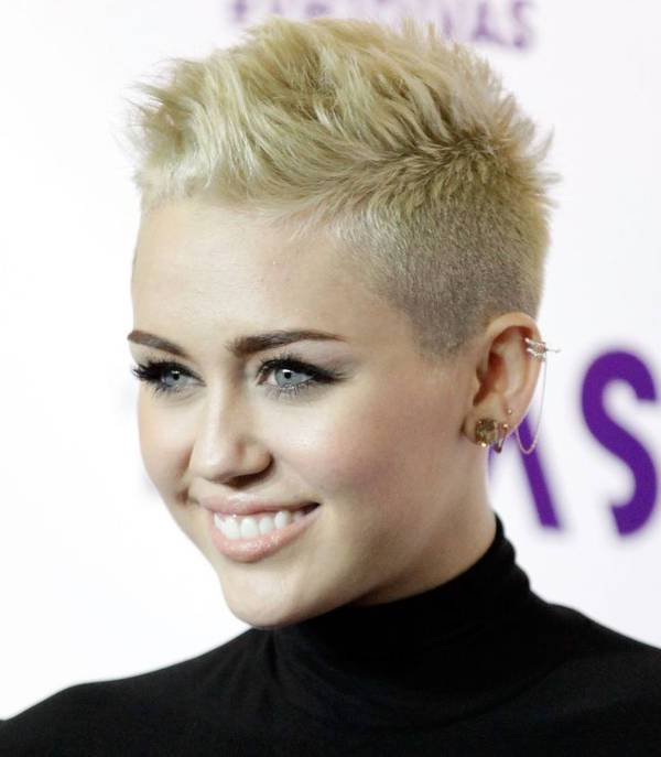 Miley Cyrus Low Fade Mohawk Hairstyle