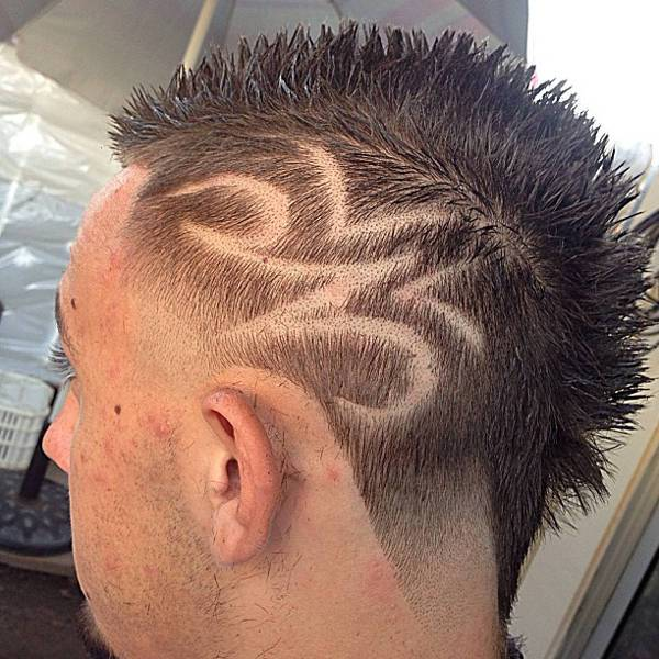 Trendy Taper Mohawk Haircut for Men
