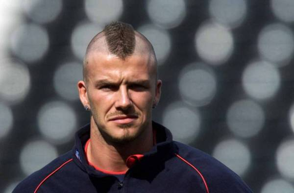 David Beckham Military Mohawk Haircut for Men