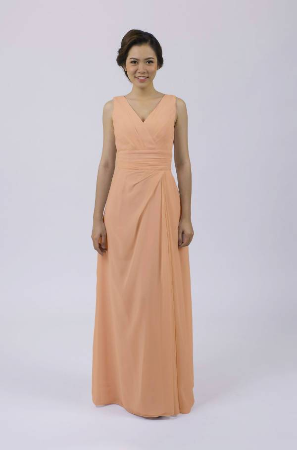 Classic Rose Gold Dress Design