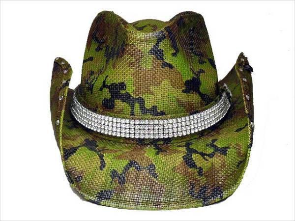 Camo Bling Cowboy Hat