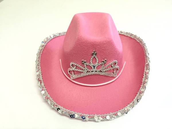 pink cowboy party hat