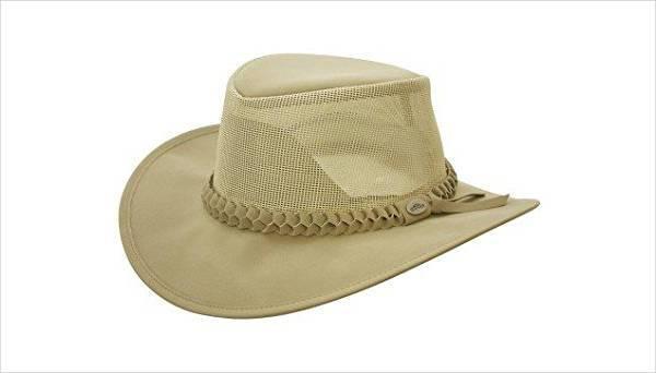 simple mesh cowboy hat