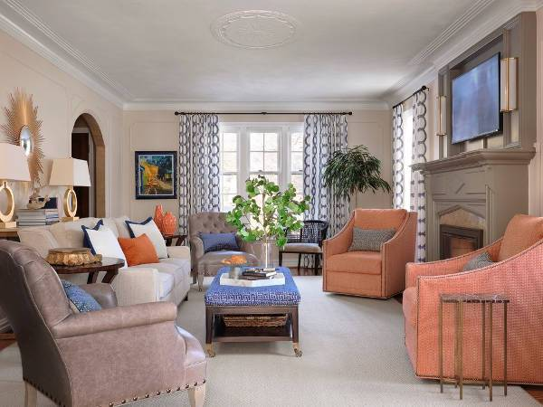 vintage living room chairs design
