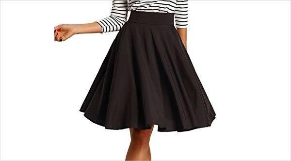 black a line skater skirt