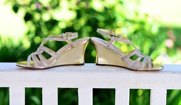 awesome bridal wedge shoes
