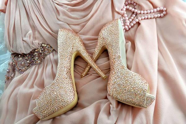 High Heel Crystal Bridal Shoes