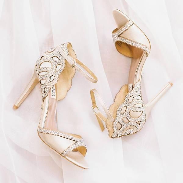 Gold Heel Bridal Shoes