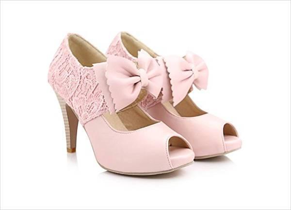 Embellished Pink Bridal Shoes