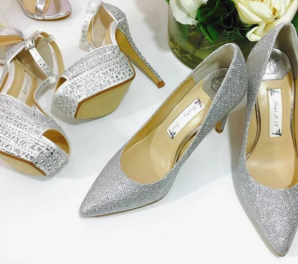 Silver Sparkle Bridal Shoes