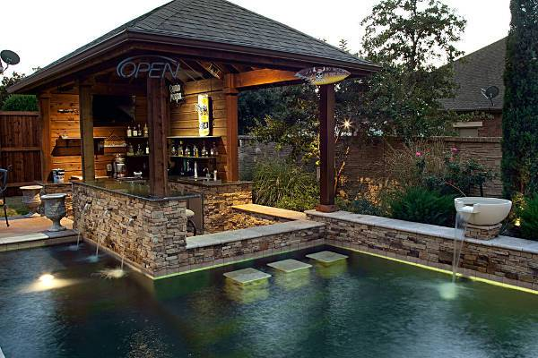awesome outdoor pool bar