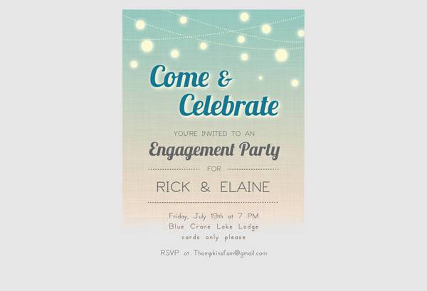 10+ engagement party invitations - printable psd, ai, vector eps, Birthday invitations