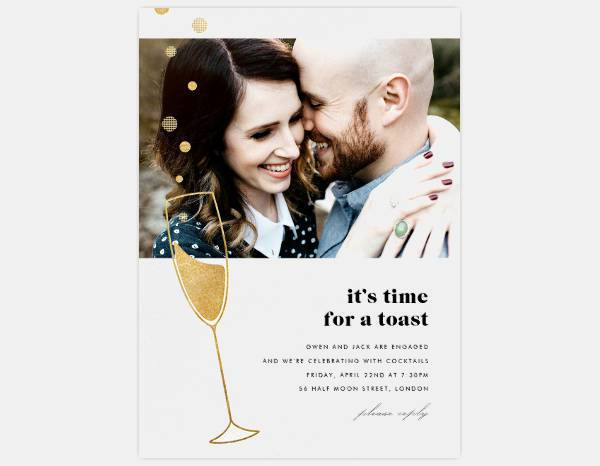 Awesome Photo Engagement Party Invitation