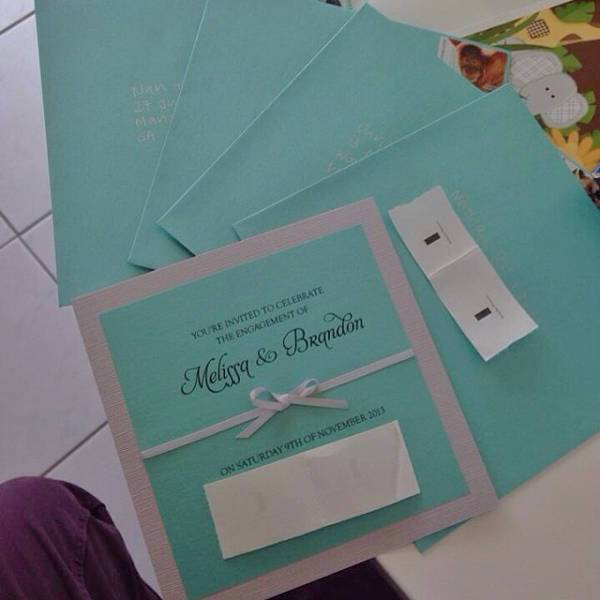 Simple Diy Engagement Party Invitation
