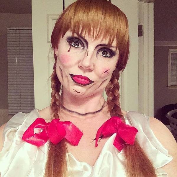 scary halloween doll makeup