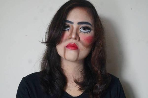 creepy doll face makeup