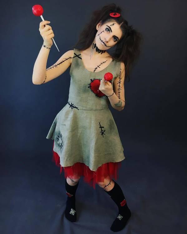 beautiful vodoo doll makeup