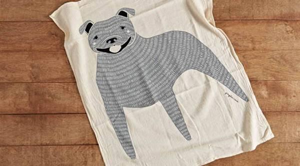 pitbull tea towel