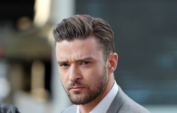 Justin Timberlake Long Tapered Hair