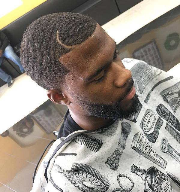 Skin Taper Haircut for Black Men