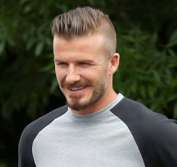 David Beckham Taper Comb Over Haircut