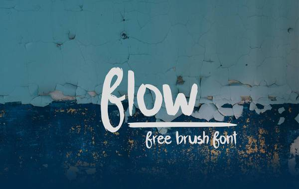 flow free brush font