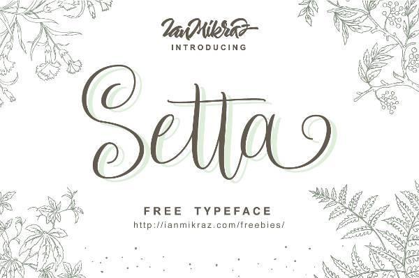 setta free script font