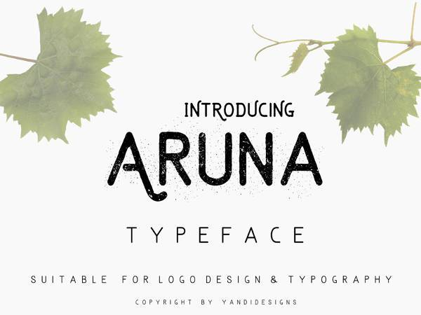 aruna free font