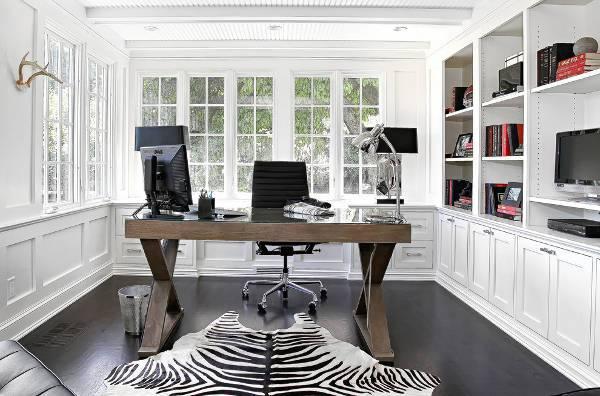 modern home office computer desk