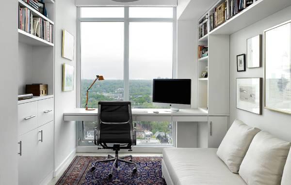 small white home office desk