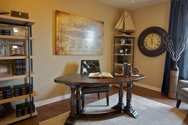 vintage wood home office desk
