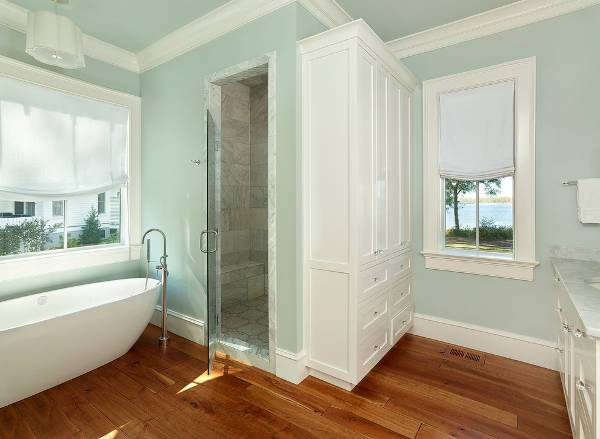 bathroom white storage cabinets