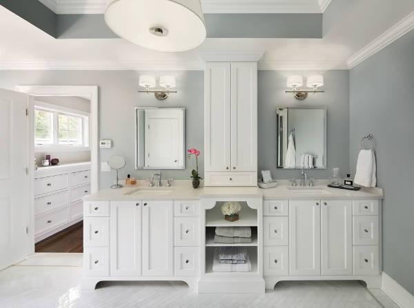 white bathroom vanity storage