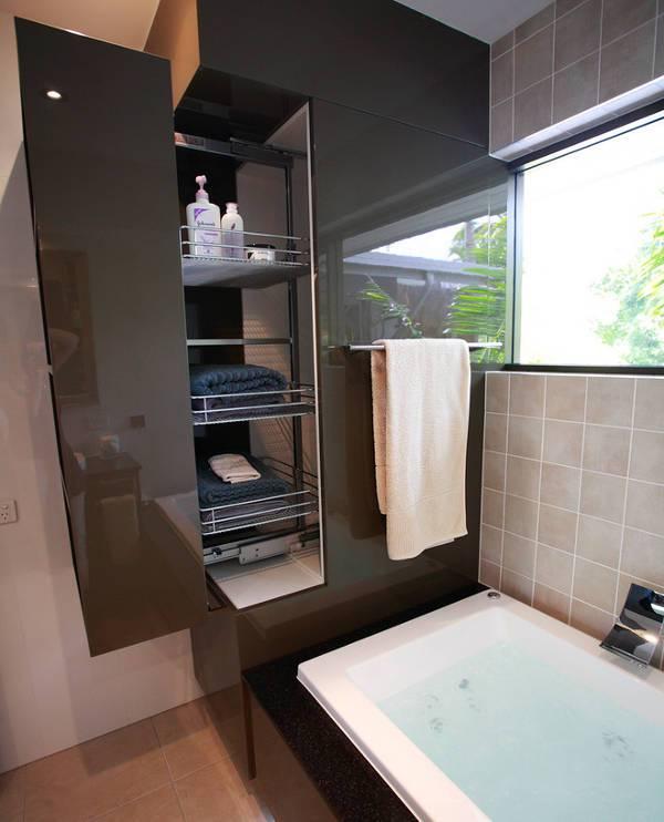simple tiered bathroom storage