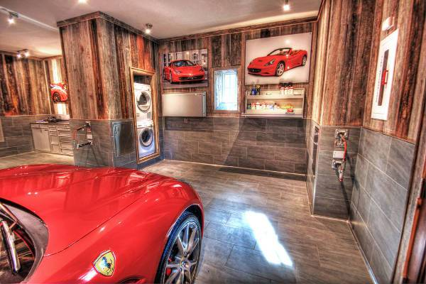 cool rustic garage flooring
