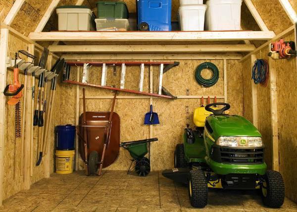 diy garage shed flooring